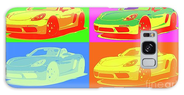 Style Galaxy Case - Porsche 718 Boxster S, Warhol Style, Office Decor by Drawspots Illustrations