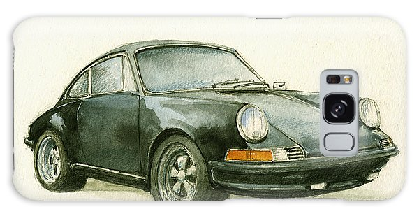 Watercolor Galaxy Case - Porsche 911 Classic Car Art by Juan  Bosco
