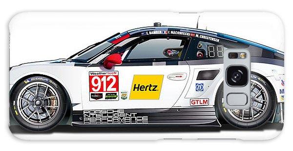 Porsche 911 Gtlm Illustration Galaxy Case