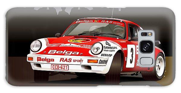 Porsche 911 Rally Illustration Galaxy Case