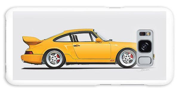 Porsche 964 Carrera Rs Illustration In Yellow. Galaxy Case