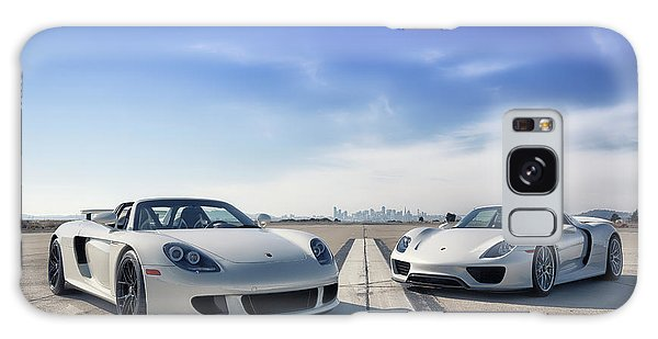 Galaxy Case featuring the photograph #porsche #carreragt And #918spyder by ItzKirb Photography