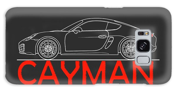 Sports Car Galaxy Case - Porsche Cayman Phone Case by Mark Rogan