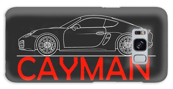 Iphone Case Galaxy Case - Porsche Cayman Phone Case by Mark Rogan
