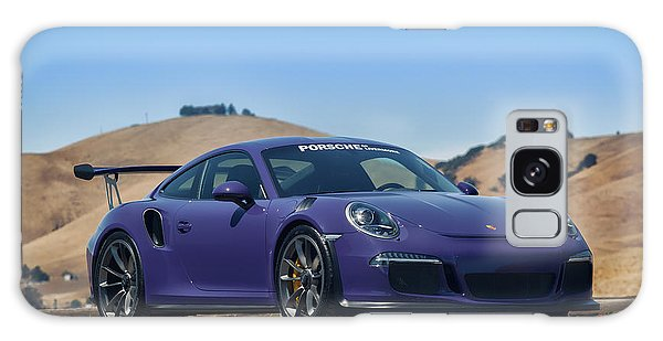 Galaxy Case featuring the photograph #porsche #gt3rs #ultraviolet by ItzKirb Photography