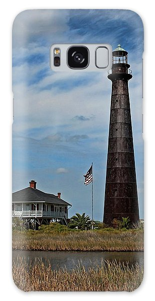 Port Bolivar Lighthouse Galaxy Case