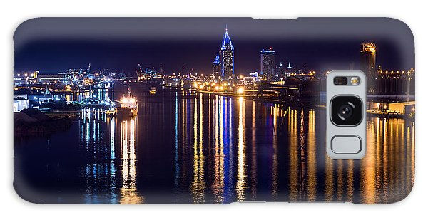 Port City In Blue Galaxy Case