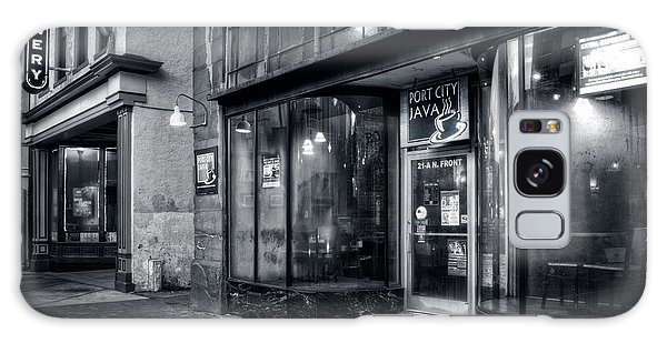 Port City Java In Black And White Galaxy Case