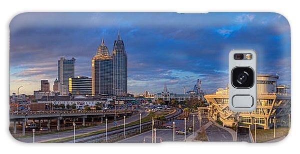 Port City Skyline Panorama Galaxy Case
