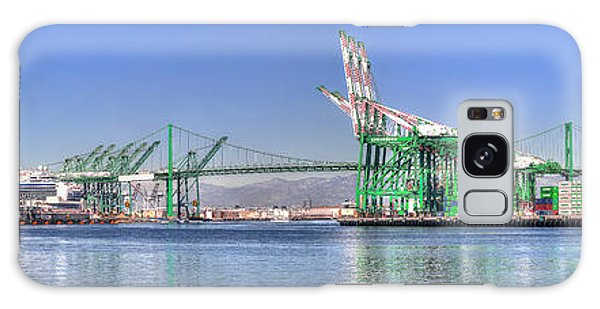Port Of Los Angeles - Panoramic Galaxy Case
