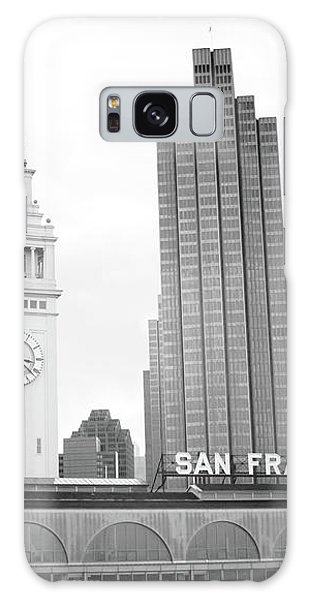 Port Of San Francisco Black And White- Art By Linda Woods Galaxy Case by Linda Woods