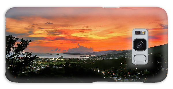 Port Of Spain Sunset Galaxy Case