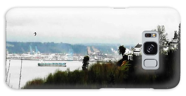 Port Of Tacoma At Ruston Wa Galaxy Case by Sadie Reneau