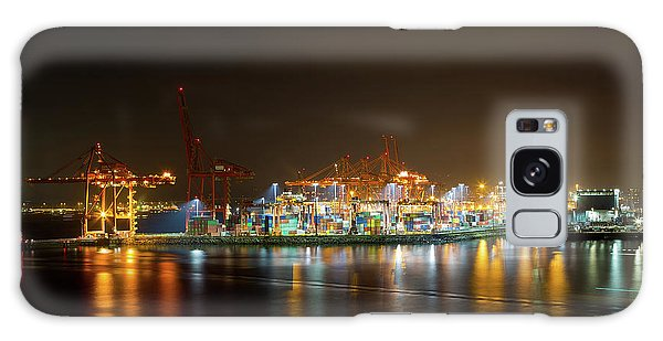 Port Of Vancouver Bc At Night Galaxy Case