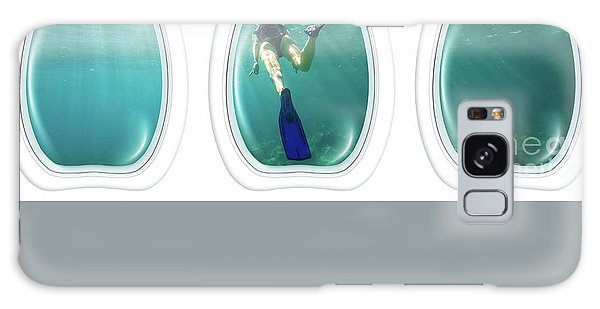 Porthole Windows On Coral Reef Galaxy Case