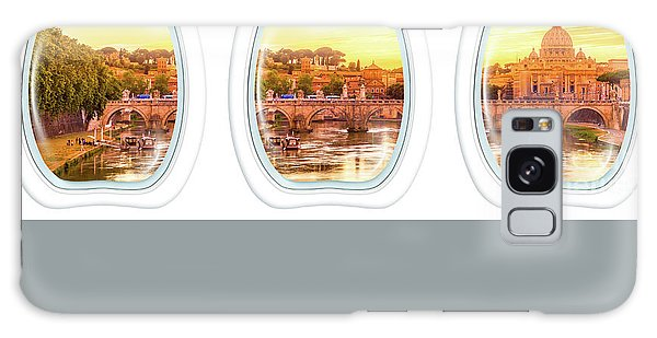 Porthole Windows On Rome Galaxy Case
