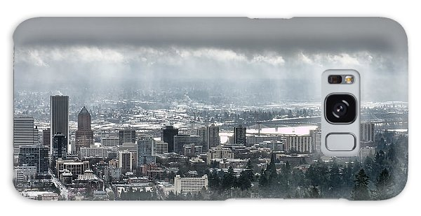 Portland After A Morning Rain Galaxy Case