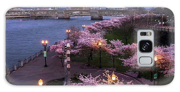 Portland Cherry Blossoms Galaxy Case
