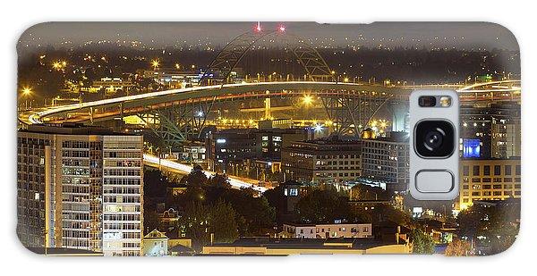 Galaxy Case - Portland Fremont Bridge Light Trails At Night by David Gn