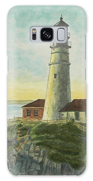 Portland Head Light At Sunrise Galaxy Case