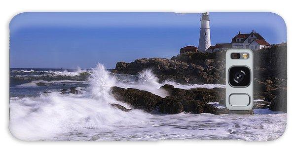 Beach Sunset Galaxy Case - Portland Head Light I by Chad Dutson