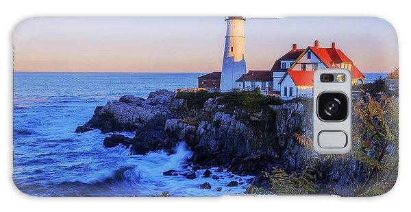 Atlantic Ocean Galaxy Case - Portland Head Light II by Chad Dutson