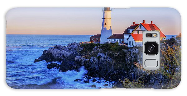 Portland Head Light II Galaxy Case by Chad Dutson