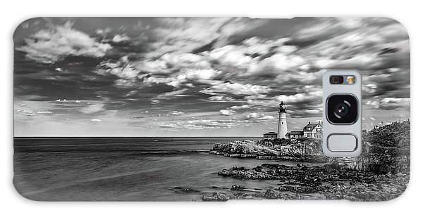 Portland Head Light In Black And White Galaxy Case