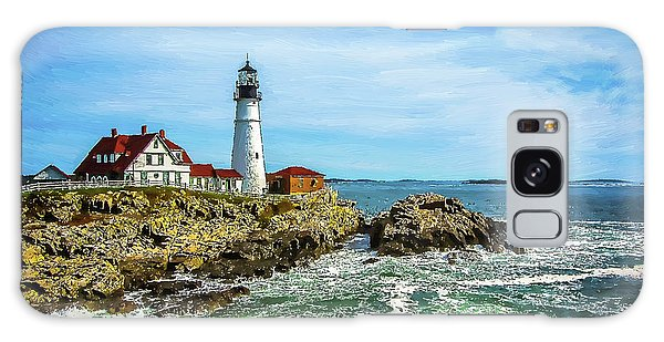 Portland Head Light - Oldest Lighthouse In Maine Galaxy Case