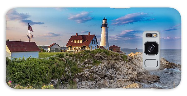 Galaxy Case featuring the photograph Portland Head Lighthouse by Cindy Lark Hartman