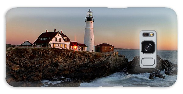 Portland Head Lighthouse Sunrise Galaxy Case