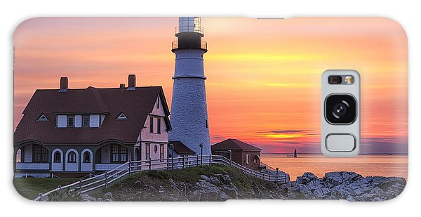Portland Head Lighthouse Sunrise Galaxy Case