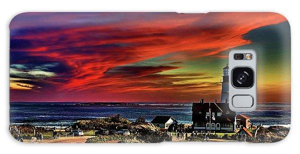 Portland Headlight Lighthouse At Sunset, Maine Galaxy Case
