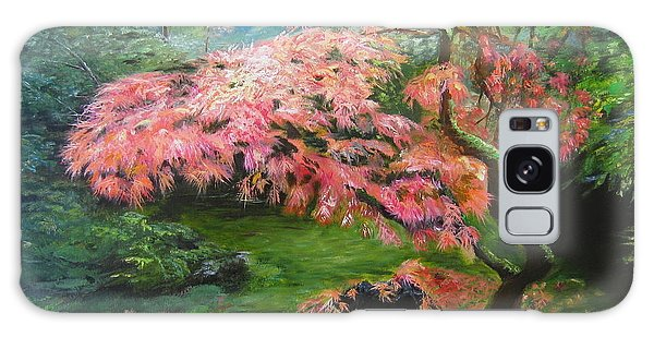 Portland Japanese Maple Galaxy Case by LaVonne Hand
