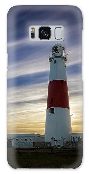 Portland Lighthouse At Sunset Galaxy Case