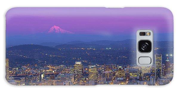 Portland Oregon Cityscape At Dusk Galaxy Case