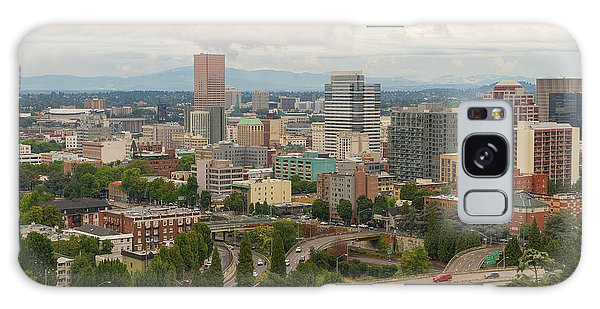 Galaxy Case - Portland Oregon Downtown Cityscape By Freeway by David Gn