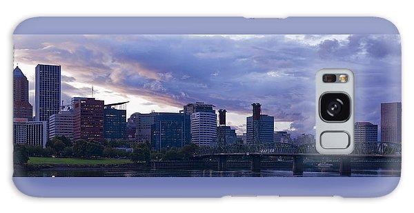 Portland Oregon Panorama Galaxy Case by Jonathan Davison