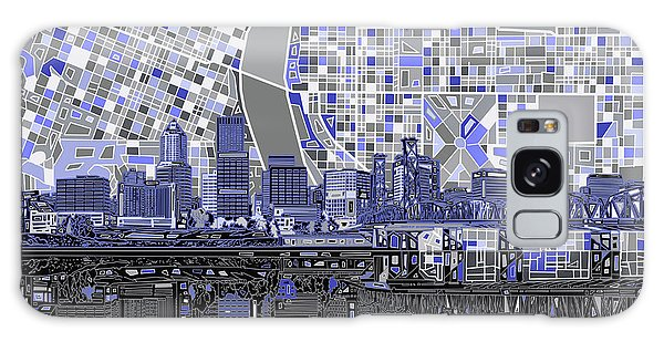 Portland Skyline Abstract Nb Galaxy Case by Bekim Art