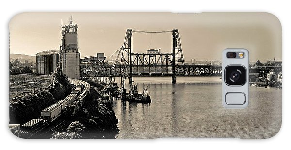 Portland Steel Bridge Galaxy Case by Albert Seger