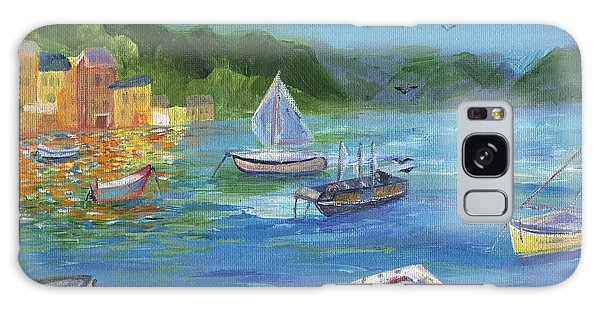 Galaxy Case featuring the painting Portofino, Italy by Jamie Frier