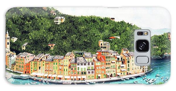 Portofino, Italy Prints From Myoriginal Oil Painting Galaxy Case