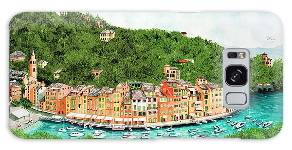 Portofino, Italy Prints From Original Oil Painting Galaxy Case