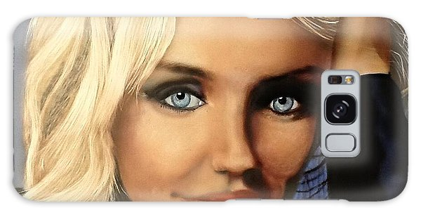 Cameron Diaz Portrait  Galaxy Case