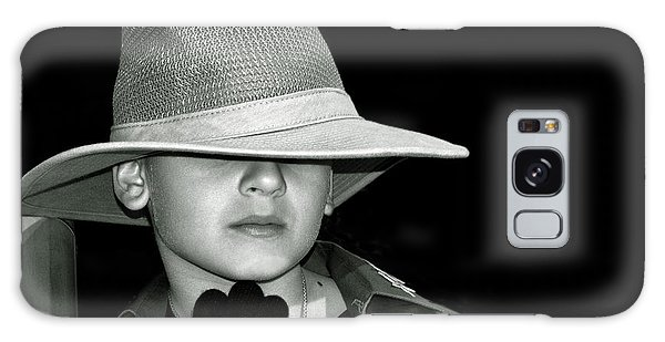 Portrait Of A Boy With A Hat Galaxy Case