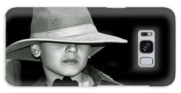 Portrait Of A Boy With A Hat Galaxy Case by Alex Galkin