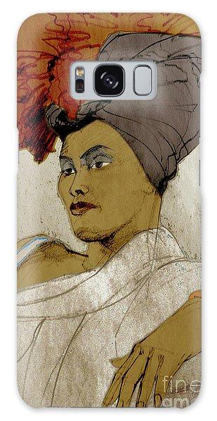 Portrait Of A Caribbean Beauty Galaxy Case