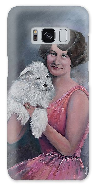 Maggie And Caruso -portrait Of A Flapper Girl Galaxy Case