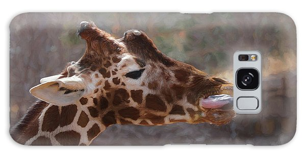 Portrait Of A Giraffe Galaxy Case by Ernie Echols