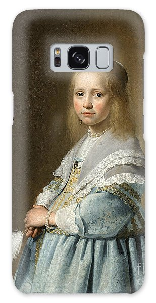 Portrait Of A Girl Dressed In Blue By J. Cornelisz Galaxy Case